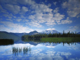 South Sister reflects in Sparks Lake, Deschutes National Forest, Oregon, USA Photographic Print by Charles Gurche