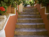 Colorful Stairways, Chania, Crete, Greece Photographic Print by Darrell Gulin