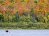 Sea kayaker on Lake Manganese, Copper Harbor, Michigan, USA Photographic Print by Chuck Haney