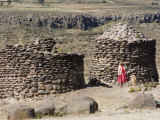 Funerary Towers, Site of Sillustani, Lake Titicaca, Peru Photographic Print by Diane Johnson