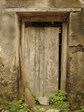 Broom in old doorway, Fuli Village, Yangshuo, China Photographic Print by Adam Jones