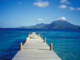 View from Turtle Bay, St. Kitts, Caribbean Photographic Print by David Herbig