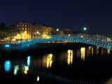 Ha' Penny Bridge over River Liffey, Dublin, Ireland Photographic Print by Alan Klehr