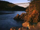 Bridge, Deception Pass State Park, Washington, USA Photographic Print by Charles Gurche