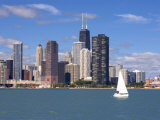Skyline and Lake Michigan, Chicago, Illinois, USA Photographic Print by Alan Klehr
