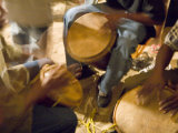 Drum Circle, Garifuna Settlement Day, Hopkins, Stann Creek District, Belize Photographic Print by John & Lisa Merrill
