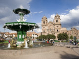 Church of La Compania, Plaza De Armas, Cusco, Peru Photographic Print by Diane Johnson