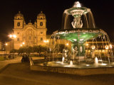 Night Shot of Plaza De Armas, Cusco, Peru Photographic Print by Diane Johnson