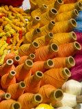 Colorful Ecuadorian thread, Otavalo Market, Ecuador Photographic Print by Cindy Miller Hopkins
