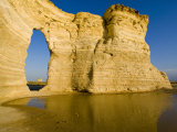 Keyhole of Monument Rocks, Kansas, USA Stampa fotografica di Chuck Haney