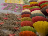 Colorful handmade incense sticks, Da Nang, Vietnam Photographic Print by Cindy Miller Hopkins