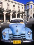 Classic Cars, Old City of Havana, Cuba Photographic Print by Greg Johnston