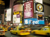 Colorful Lights and Traffic, Times Square, New York City, New York, USA Photographic Print by Alan Klehr