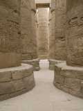 Hieroglyphic covered columns in hypostyle hall, Karnak Temple, East Bank, Luxor, Egypt Photographic Print by Cindy Miller Hopkins