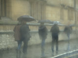 Walking in the rain, Oxford University, England Photographic Print by Alan Klehr