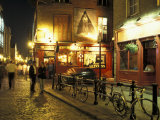 Temple Bar area at night, Dublin, Ireland Photographic Print by Alan Klehr
