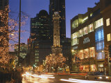 Holiday Lights on North Michigan Avenue, Chicago, Illinois, USA Photographic Print by Alan Klehr