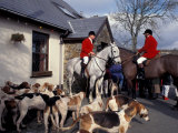 Riders and Hounds Awaiting Fox Hunt, Wales, United Kingdom Photographic Print by Alan Klehr