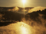 Sunrise, Lake Waterbury, Little River State Park, Vermont, USA Photographic Print by Charles Gurche