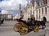Horsedrawn Carriage Ride, Brugge, Belgium Photographic Print by Cindy Miller Hopkins