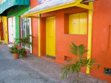 Colorful Street Front, Isla Mujeres, Quintana Roo, Mexico Photographic Print by Julie Eggers