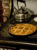 A Pie Cools on Old-Fashioned Stove Photographic Print by David Herbig