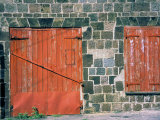 Red Window and Door, St. Kitts, Caribbean Photographic Print by David Herbig