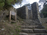 Inca Trail Approaching the Sun Gate, Machu Picchu, Peru Photographic Print by Diane Johnson
