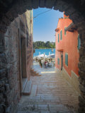 Arched Walkway, Adriatic Sea, Rovigno, Croatia Photographic Print by Adam Jones