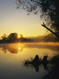 Sunrise on the James River, Bedford County, Virginia, USA Photographic Print by Charles Gurche