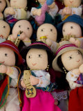 Typical Ecuadorian hand made dolls, Otavalo Market, Ecuador Fotografie-Druck von Cindy Miller Hopkins