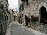 Medieval Street, Assisi, Umbria, Italy Photographic Print by Marilyn Parver