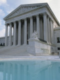 Supreme Court and Pool, Washington DC, USA Photographic Print by Alan Klehr