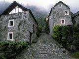 Village of Foroglio Val Bavona, Ticino Region, Switzerland Photographic Print by Gavriel Jecan