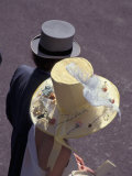 Man and woman wearing hats, Royal Ascot, London, England Photographic Print by Alan Klehr
