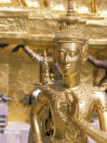 Gold Statue at Wat Phra Kaew Temple, Grand Palace, Bangkok, Thailand Photographic Print by Paul Souders