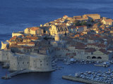 Dawn in port city of Dubrovnik, Dalmatia, Croatia Photographic Print by Alan Klehr