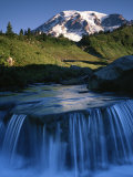 Cascade below Mt. Rainier, Mt. Rainier National Park, Washington, USA Photographic Print by Charles Gurche