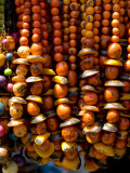 Colorful necklaces, Otavalo Market, Ecuador Photographic Print by Cindy Miller Hopkins