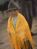 Girl in Traditional Hat, Saquisili, Ecuador Photographic Print by John & Lisa Merrill