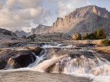 Rapids and Fremont Peak on Lower Titcomb Basin, Bridger National Forest, USA Photographic Print by Don Paulson
