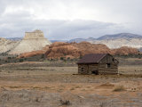 Outbuilding with Sandstone, Escalante National Monument, Utah, USA Photographic Print by Diane Johnson