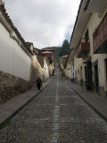 Locals Walking Up Cobblestone, Cusco, Peru Photographic Print by Diane Johnson