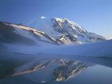 Frozen Lake, Mt. Rainier National Park, Washington, USA Photographic Print by Charles Gurche