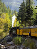 The Durango & Silverton Narrow Gauge Railroad, Colorado, USA Fotografie-Druck von Cindy Miller Hopkins
