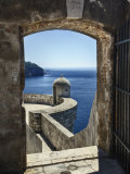 Adriatic Sea Framed By Gate, Dubrovnik, Croatia Photographic Print by Adam Jones