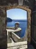 Adriatic Sea Framed By Gate, Dubrovnik, Croatia Photographic Print by Adam Jones