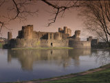 Caerphilly Castle in southern Wales, United Kingdom Photographic Print by Alan Klehr