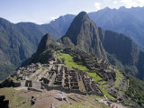Lost Inca City of Machu Picchu, Intipunku, Peru Photographie par Diane Johnson