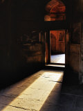 Afternon sunlight through doorway, Tomb of Mohammed Shah, Lodhi Gardens, New Delhi, India Photographic Print by Adam Jones